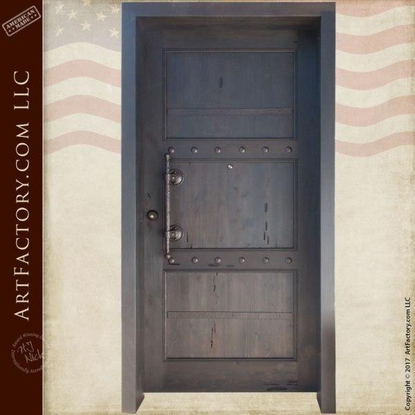 wooden castle entrance door