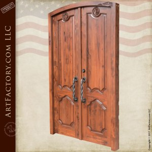 hand carved wood entry doors