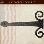 Wrought Iron Strap Hinge Inspired By History