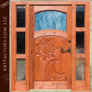 hand carved custom theme door