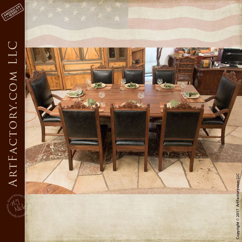 Hand Carved Dining Table Handcrafted Fine Art