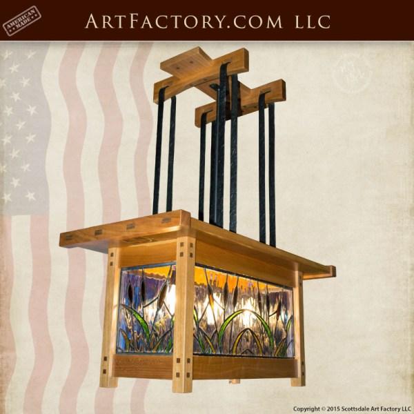 craftsman stye chandelier