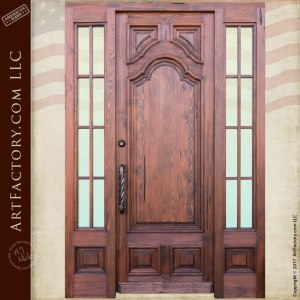 entry door with divided sidelights