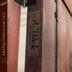 custom carved wooden door