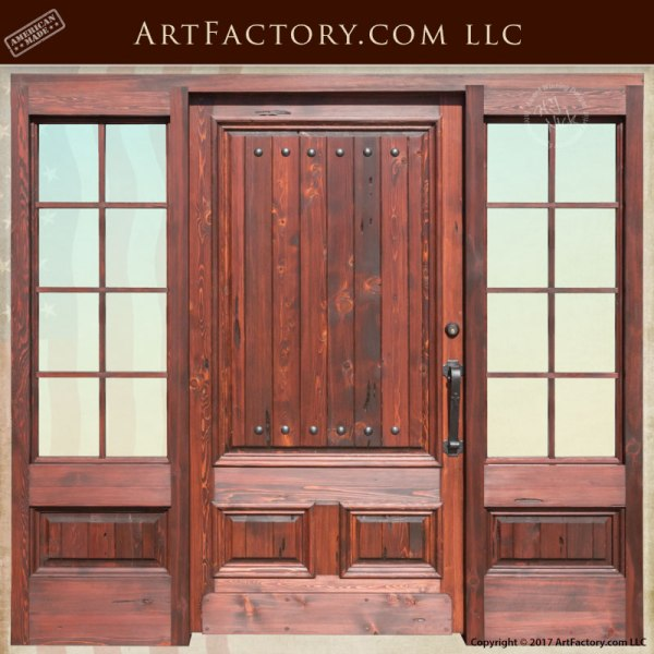 custom fine art entrance door