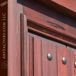 wood door with sidelights