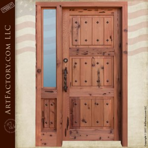 fortress style door craftsman wood doors