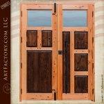 custom solid wood entry doors