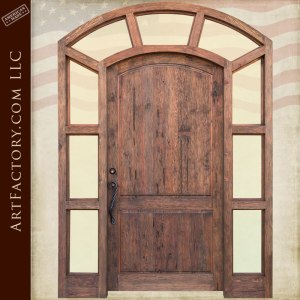 custom wood entrance door