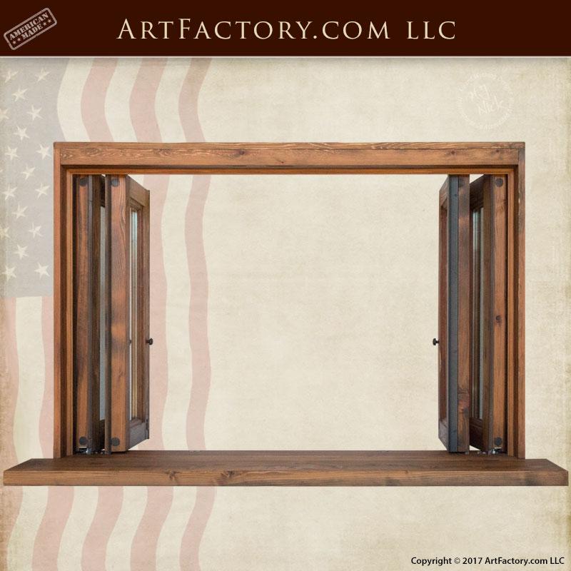 Custom Made Wood Windows : Custom bi fold windows hand built solid wood frame