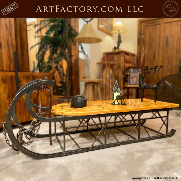 Custom Sleigh Coffee Table: An H.J. Nick Original Design