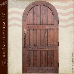 arched entry gate, solid wood garden gate