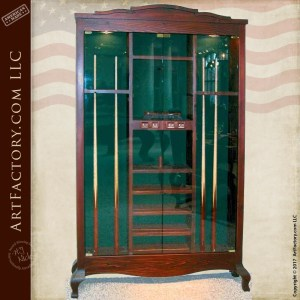 billiards cue cabinets custom pool cue cabinet