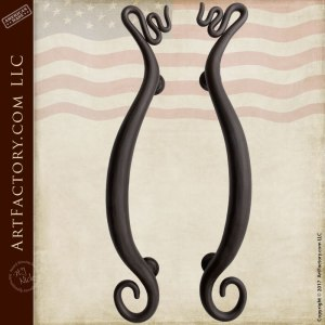custom fine art wrought iron door pulls