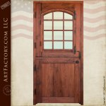 Custom Dutch Door Solid Wood Entry Door 12 Pane Glass Panel