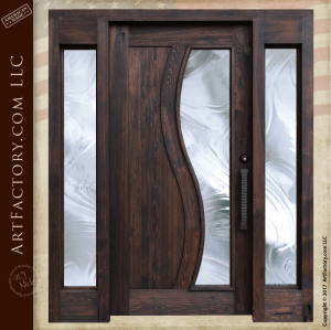 contemporary style entrance door
