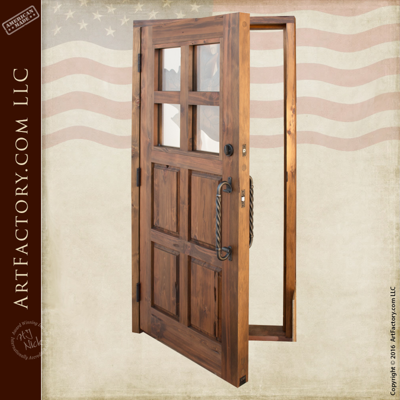 Carved maple leaf theme wood door custom solid wood front for World concepts lodge furniture
