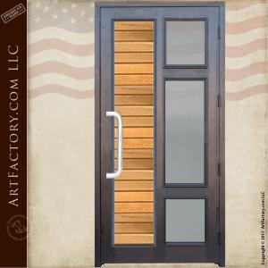 Contemporary Custom Front Door: Solid Wood Door With Glass Panels