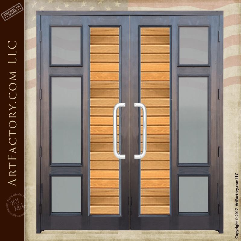 Contemporary custom double doors modern entry glass for 10 panel glass door
