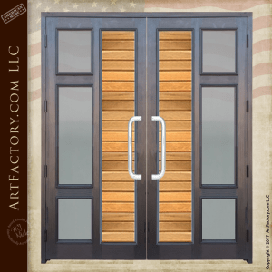 Contemporary Custom Double Doors Modern Entry Glass Panel Doors