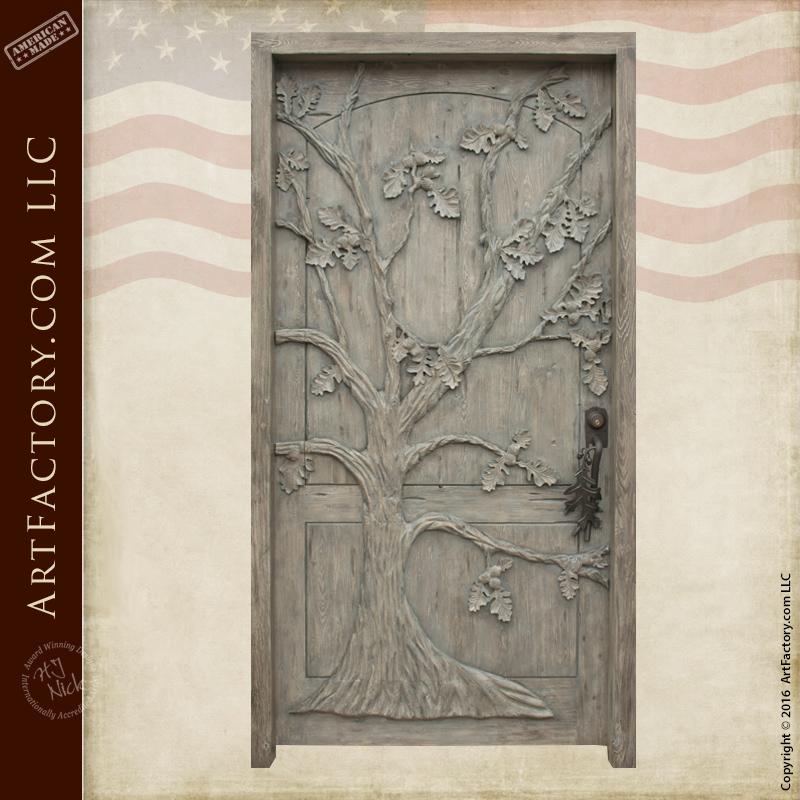 Oak Tree Theme Custom Door Hand Carved Solid Wood Doors \u2013 CD7760 & Hand Carved Fine Art Doors: Made In America Since 1913