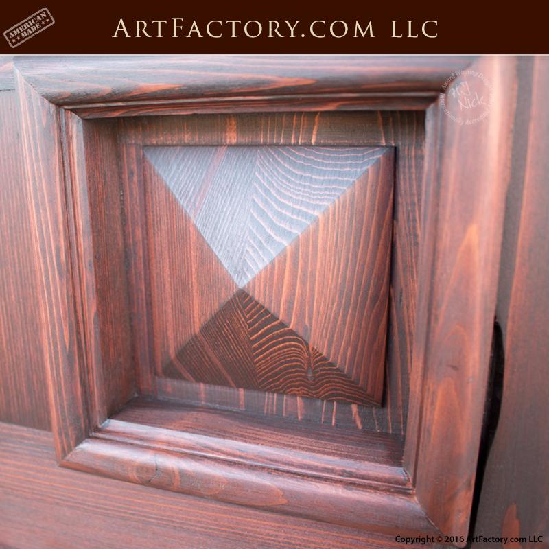 Pyramid Panel Double Doors