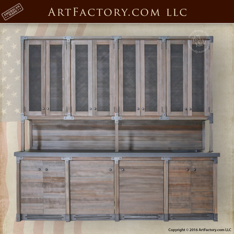 Custom Wet Bar - Handmade With Solid Wood And Hand Forged Iron