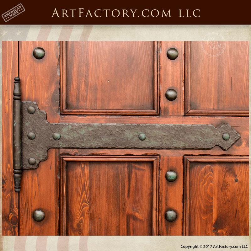 hand forged iron strap hinge custom door hinges