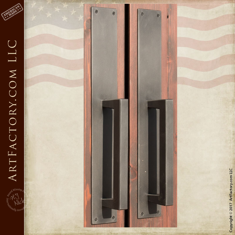 contemporary glass panel double doors