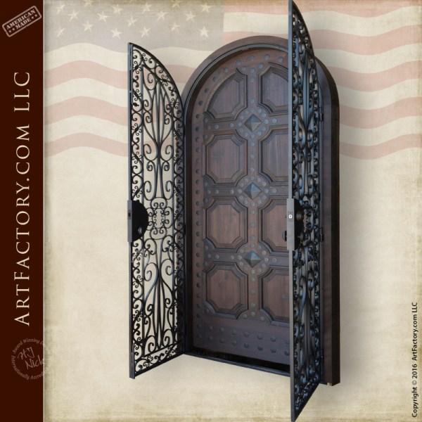 custom decorative security door