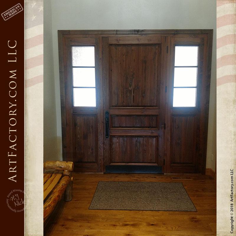 custom 3 panel front door installed interior