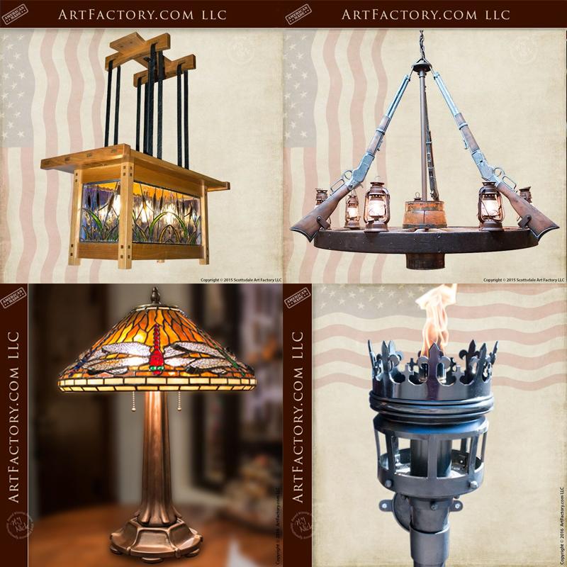 custom iron craftsman lighting