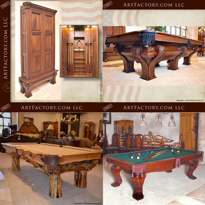 pool tables cabinets