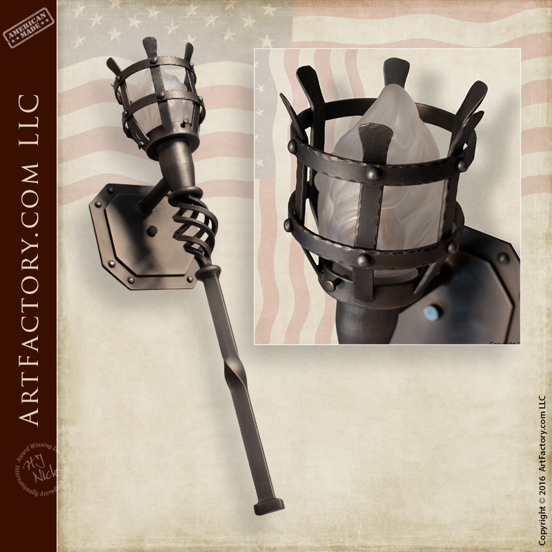medieval style torch sconce