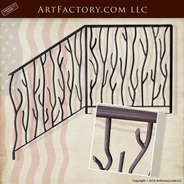 custom wrought iron stair railing