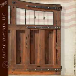 custom wooden carriage gate