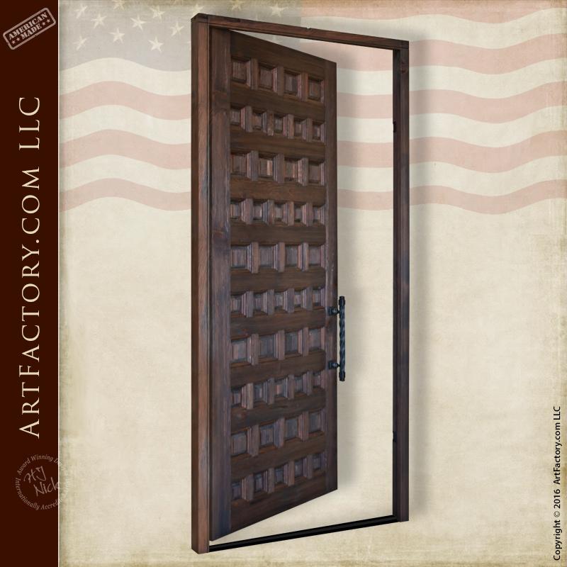 custom variable sized wood panel door