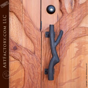 oak branch door pull
