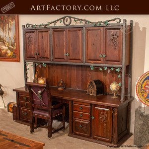 custom winery office desk