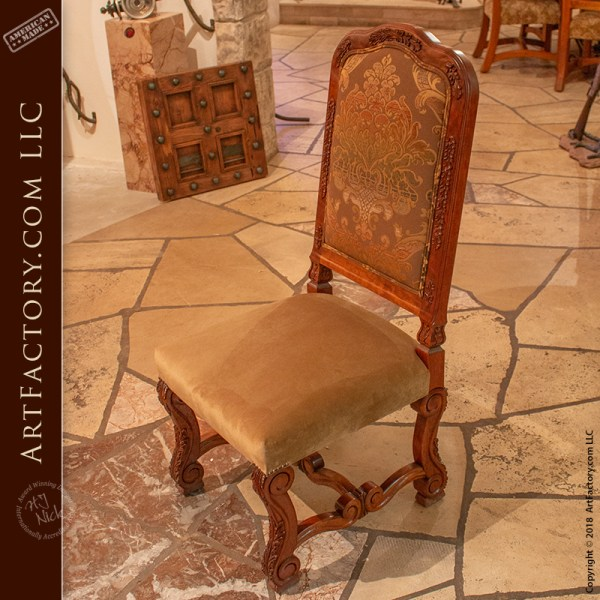 hand carved cherry dining chairs