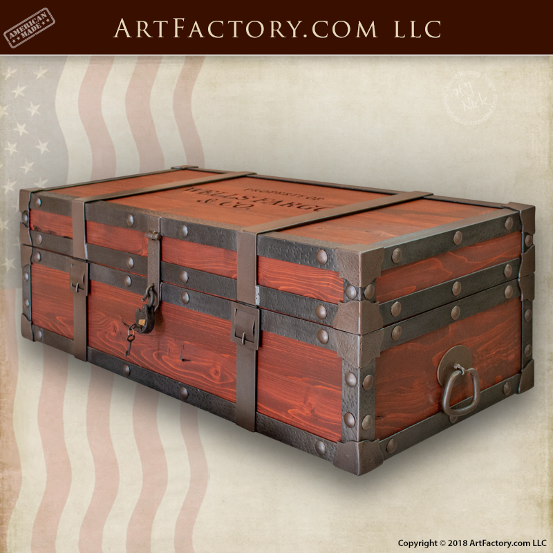 strong box storage chest is one of our most popular custom coffee tables