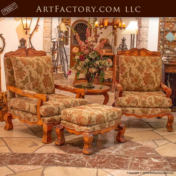 Louis XIV Style hand carved chairs