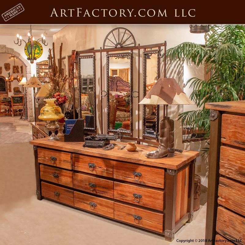 custom western style dresser