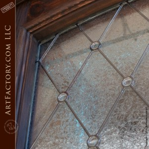 Semi-Arch Leaded Glass door