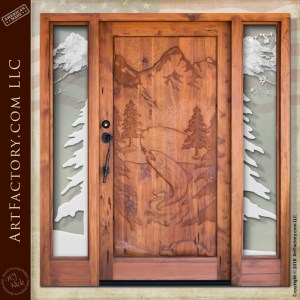 Trout Fishing Theme Door