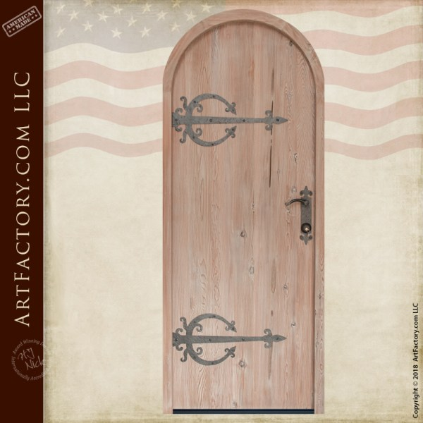 custom arched wood door