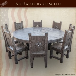 round castle dining table