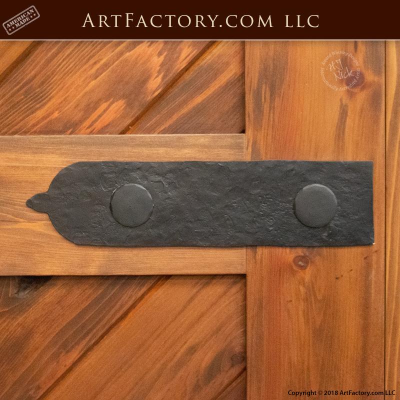 custom decorative hinge strap