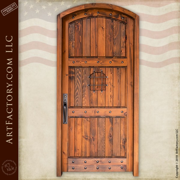 semi-arched speakeasy door