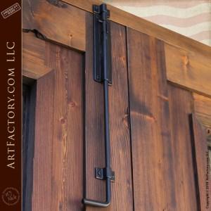 Spanish inspired double doors